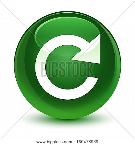 Reply Rotate Icon Glassy Soft Green Round Button