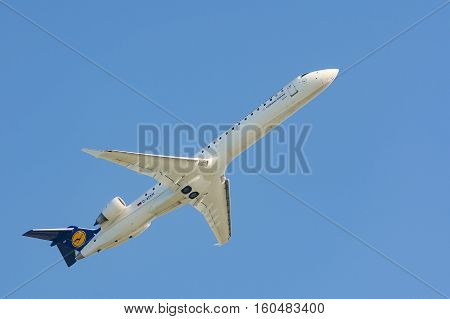 Aircraft Of Lufthansa Regional Cityline Airlines Gains Altitude