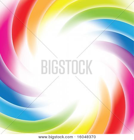 Rainbow gradient mesh background with place for text for business artwork. Vector