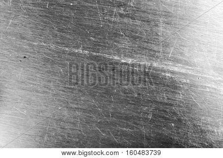 Scraped steel sheet textured background. Grey color