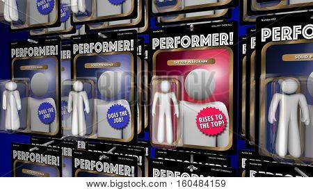 Top Performer Action Figure Great Performance 3d Illustration