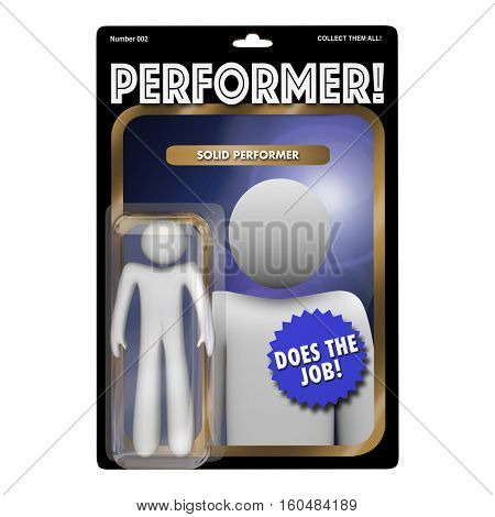 Performer Skilled Hard Worker Action Figure 3d Illustration