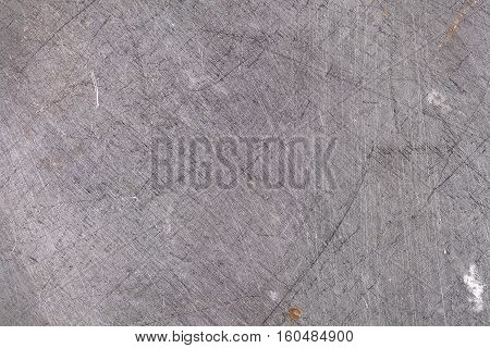 Scraped metallic surface industrial background. Grey color