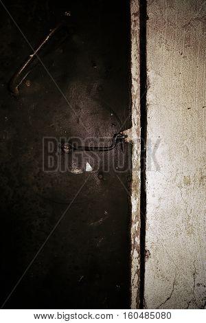 Lock on the closed door. Conceptual photo