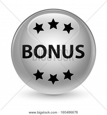 Bonus (stars) Icon Glassy White Round Button