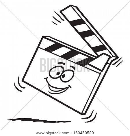 Funny cartoon clapboard