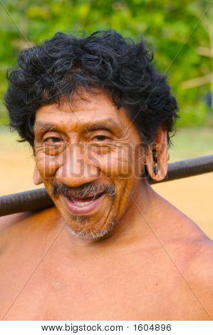 Smiling Amazon Indian