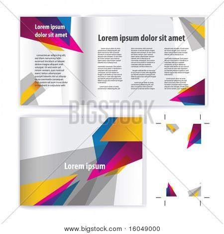 brochure ( booklet ) cover template vector