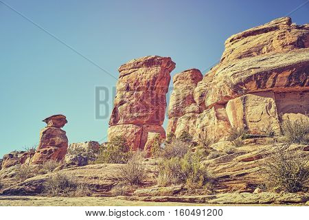 Devils Kitchen Rock Formations In The Colorado National Monument, Usa.