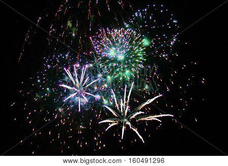 large Fireworks Display event background rockets exploding