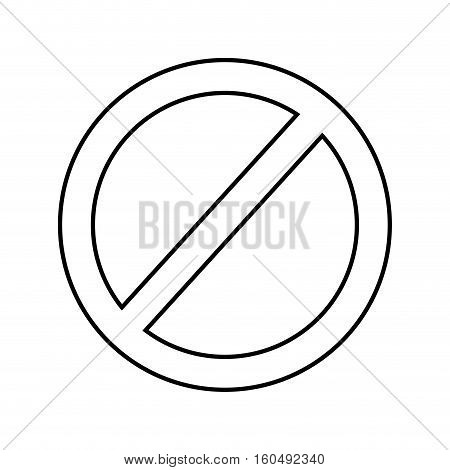 prohibition sign isolated icon vector illustration design