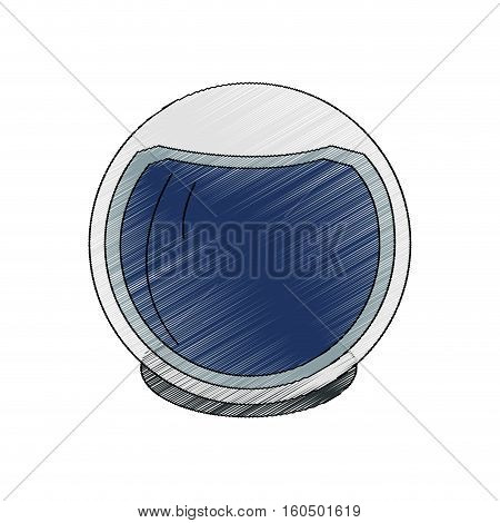Astronaut helmet icon. Spaceman cosmonaut pilot space and science theme. Isolated design. Vector illustration