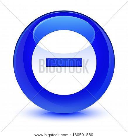 Cancel Icon Glassy Blue Round Button