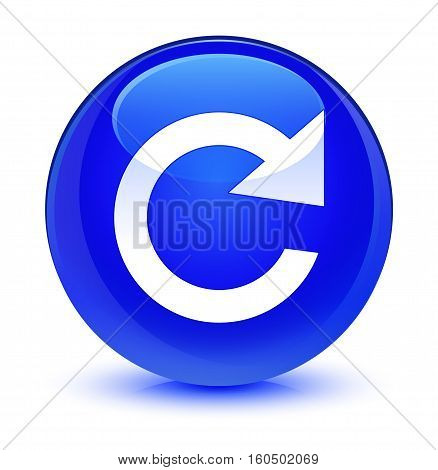 Reply Rotate Icon Glassy Blue Round Button