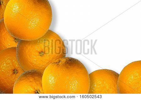 Orange juicy fruits background close up with details