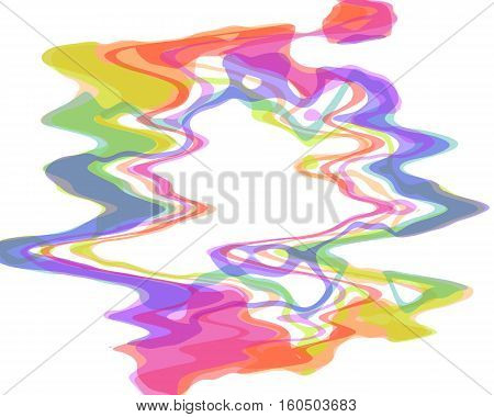 creative multicolored amorphous abstraction in round shape with a lot of colors