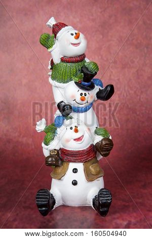 Snowman Totem Pole