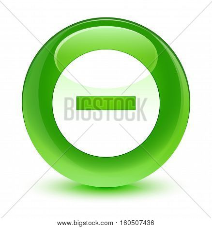 Cancel Icon Glassy Green Round Button