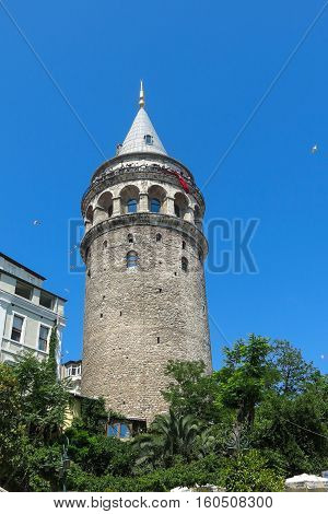 The Galata tower in Istanbul Turkey. More than 32 million tourists visit Turkey each year.