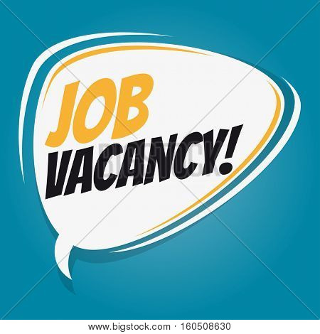 job vacancy retro speech balloon