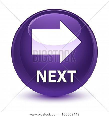 Next Glassy Purple Round Button