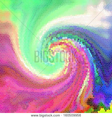 Abstract background of the pastels gradient with visual stained glass,wave,pinch and twirl effects,good for your project design