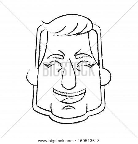 Astronaut face cartoon icon. Spaceman cosmonaut pilot space and science theme. Isolated design. Vector illustration