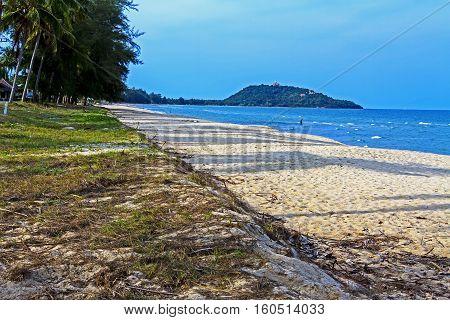 Beautiful sky coconut on beach Ban Krut Prachuap Khirikhun Province Thailand