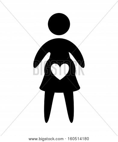 woman pregnancy silhouette isolated icon vector illustration design