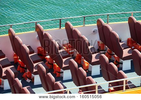 excursion ship with empty seats expect passengers