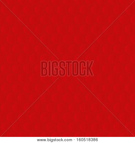 Bubble Wrap. Red Neutral Seamless Pattern for Modern Design in Flat Style. Tileable Geometric Vector Background.