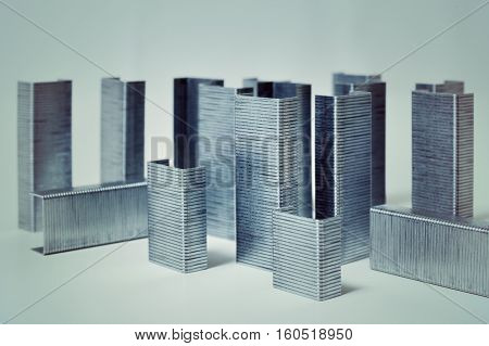concept idea of cityscape of office staples buildings