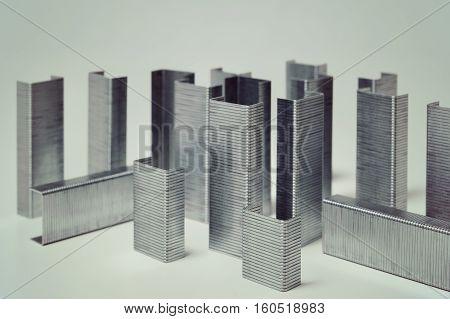 abstract conceptual macro cityscape of staple building