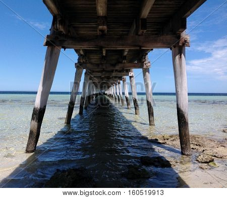 Timber Jetty, Hallam South Australia, District of Streaky Bay South Australia