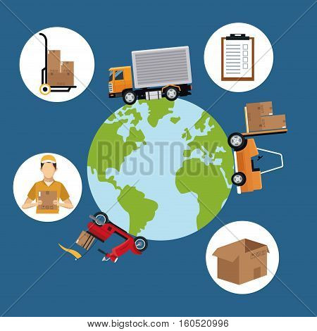 world wide cargo transport delivery concept vector illustration eps 10