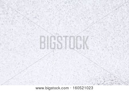 Background and texture of decoration white terrazzo floor