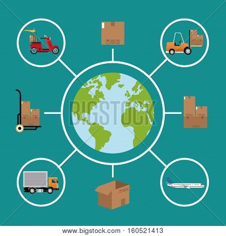 delivery concept global logistic cargo vector illustration eps 10
