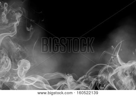 Grey Smoke Overlay Texture. Transparent background, with fog.