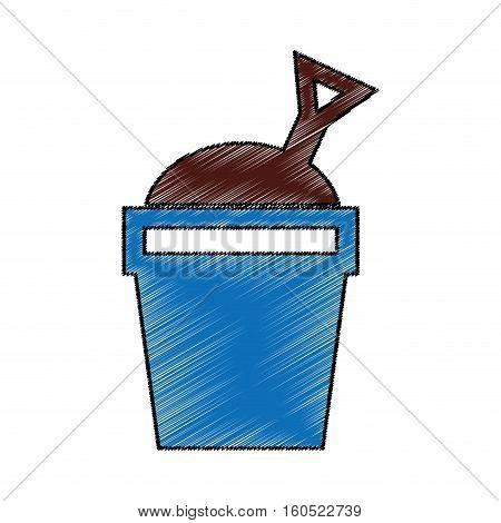 sand bucket isolated icon vector illustration design