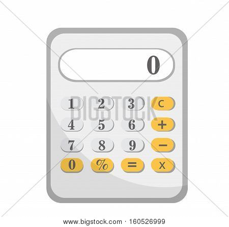Calculator icon, flat design. Calculator isolated on white background. Vector illustration, clip art
