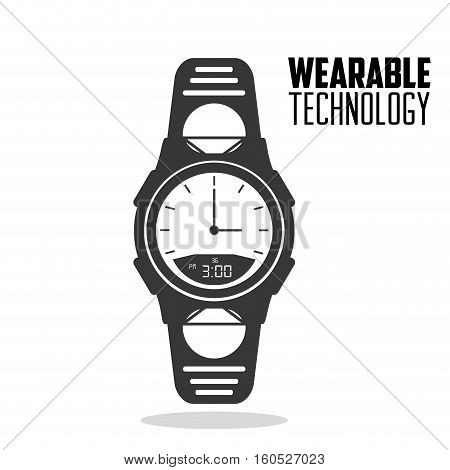 smart watch accesorie wearable technology vector illustration eps 10