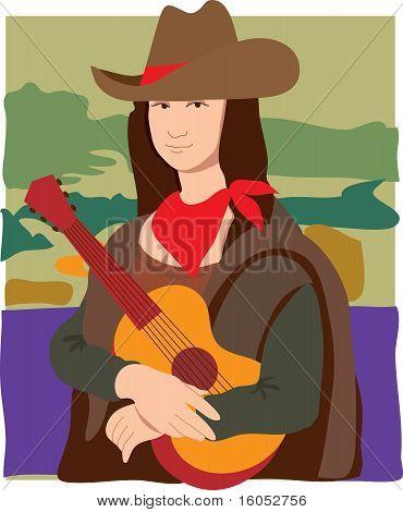 Mona Lisa Cowgirl