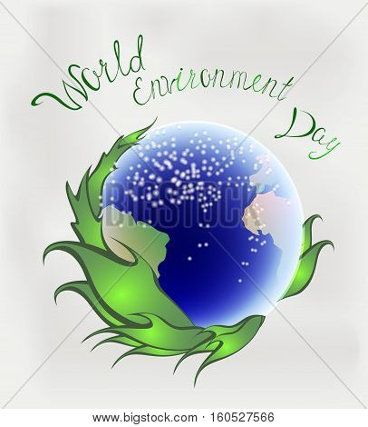 A symbolic image related to the environment of the earth.World environment day greeting design. EPS10 vector illustration