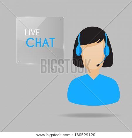 Customer service live chat illustration