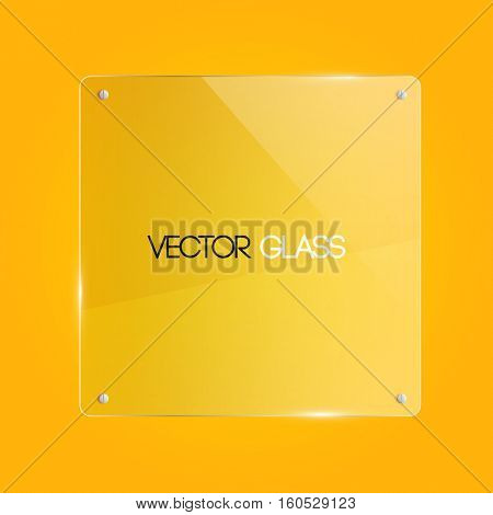 Glass frame illustration on a yellow background