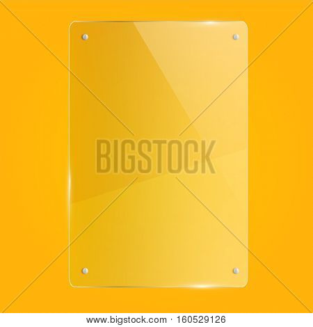 Glass illustration on a yellow background