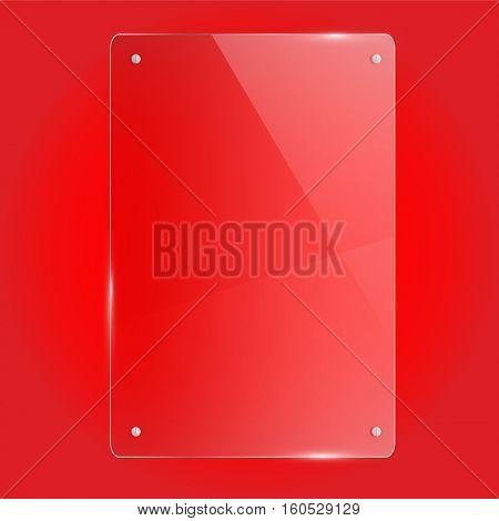Glass rectangle frame vector illustration