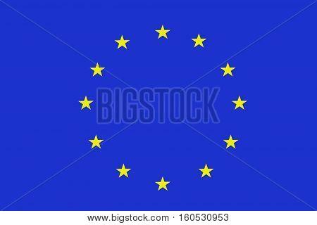 European Union flag ,3D European Union national flag illustration symbol