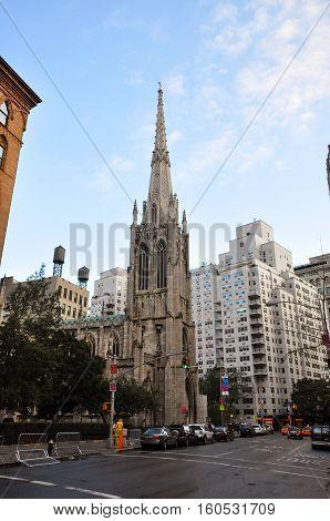 NEW YORK CITY - OCT. 2, 2011: Grace Church on 802 Broadway in Lower Manhattan, New York City, USA.