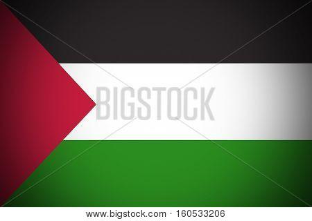 Palestine flag Palestine national flag illustration symbol.